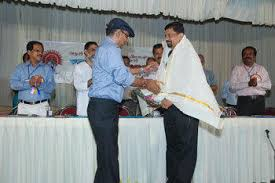 The Author being honoured..